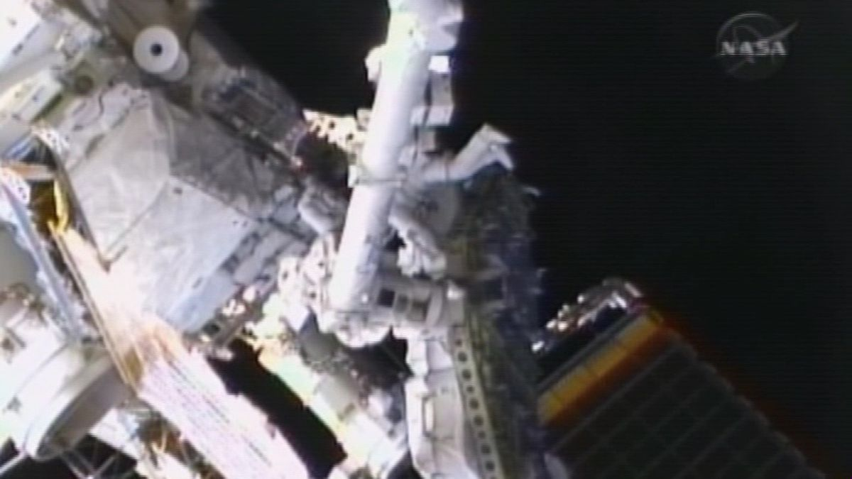 File: NASA's first all-women spacewalk will take place early Friday morning. (Source: NASA via CNN)