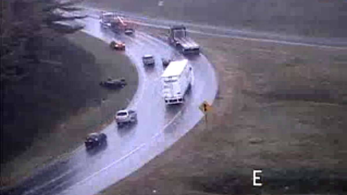 View from VDOT traffic camera at MM 221 of Interstate 81 as of 11:30 a.m. on Oct. 16, 2019