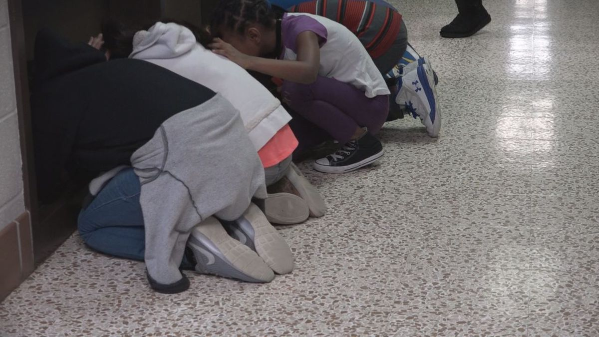 WHSV file photo of a 2018 tornado drill at schools on Virginia's statewide tornado drill day