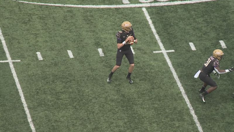 James Madison quarterback Cole Johnson is playing his best football as the Dukes prepare for...