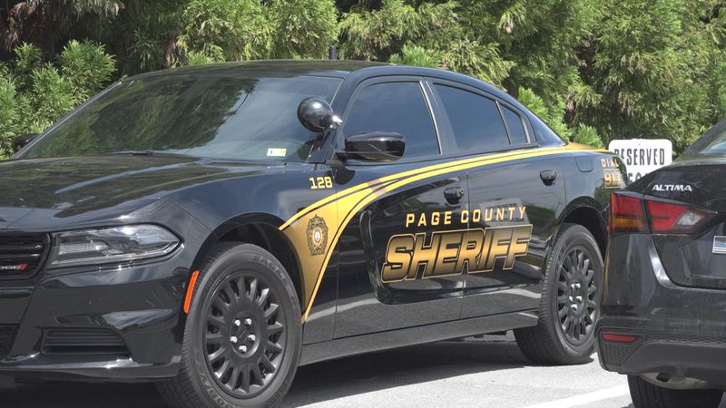 A Page County Sheriff's Office Car.