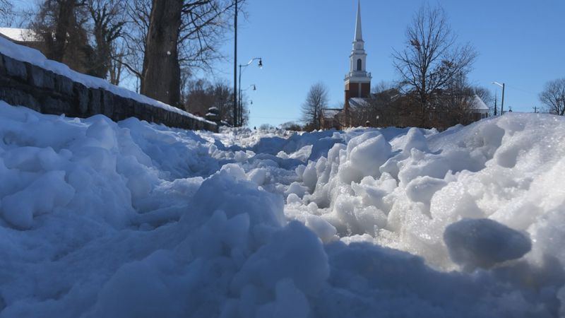 Because this week's snowfall was 6 in. or less, snow needed to be removed from business and...