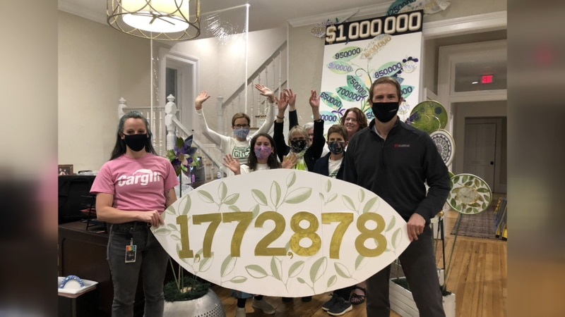 TCFHR Staff and Great Community Give sponsors celebrate the $1,772,878 raised for local...