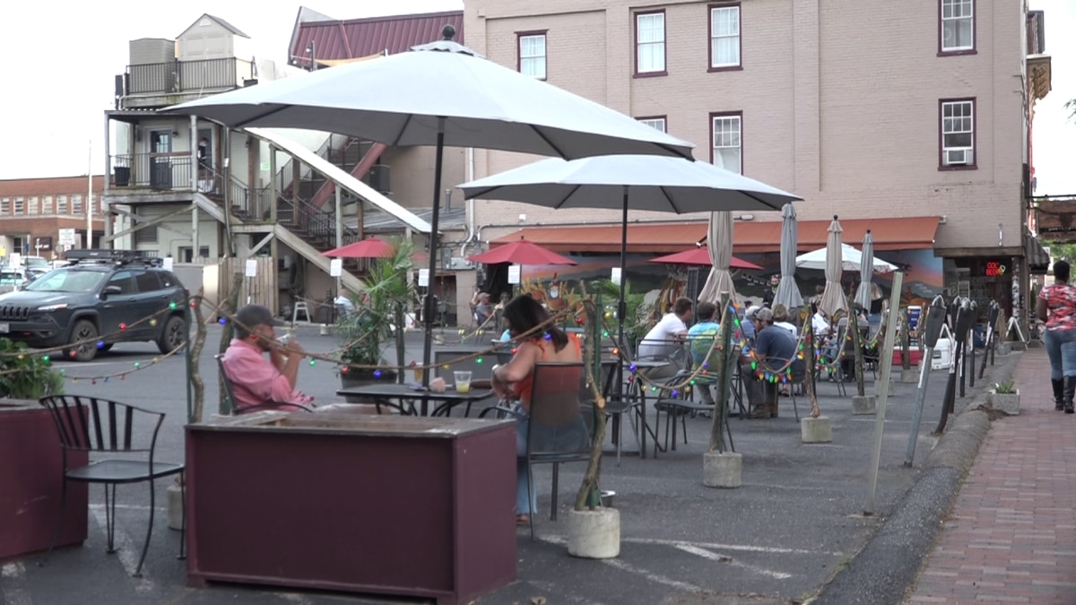 Outdoor seating expansion at Billy Jack's and Jack Brown's in downtown Harrisonburg.