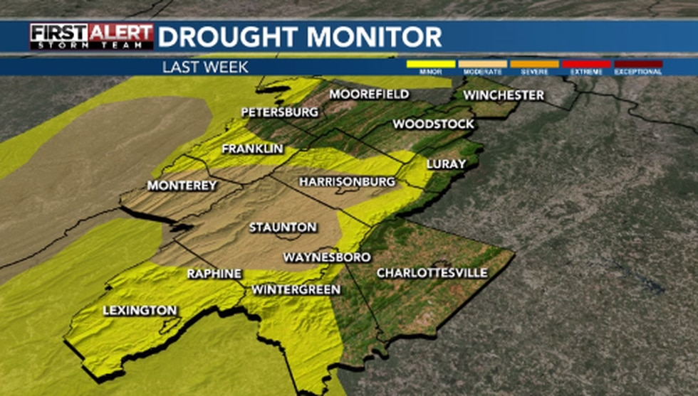 Most of the area was at least under a minor drought. Some were under a moderate drought.