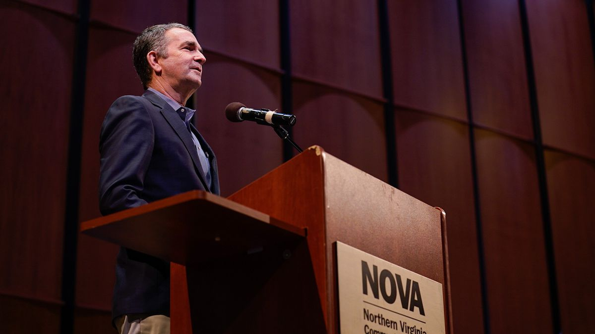 Gov. Northam cited McAuliffe's 'strong record of leadership and his bold plans to continue to...
