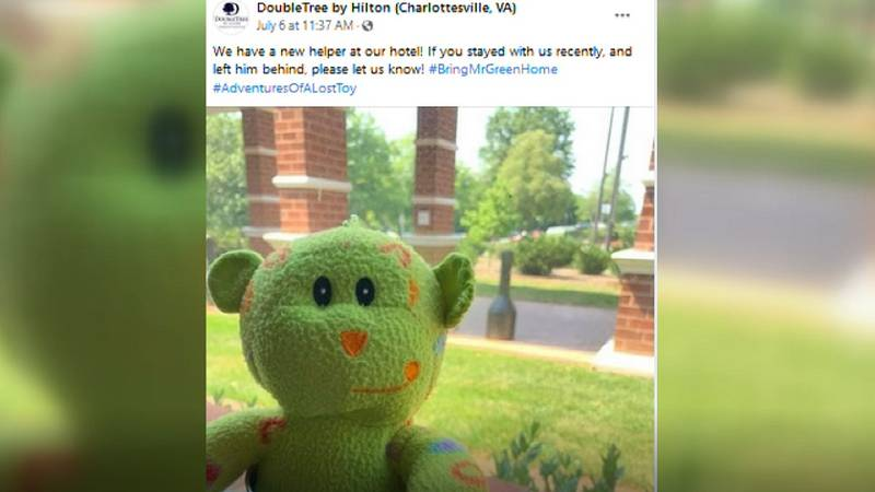 The DoubleTree hotel in Albemarle County is on a mission to help reunite a child with a lost...