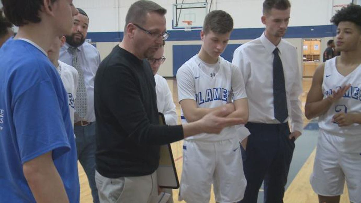 The Eastern Mennonite School boys basketball team defeated The Carmel School, 64-62, in the semifinals of the VISAA Division III State Tournament Friday afternoon at Virginia State University.
