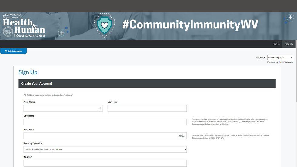Community Immunity sign up