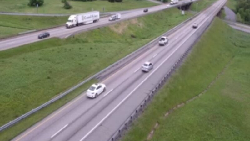 Snapshot from a VDOT traffic camera at MM 213.4 of Interstate 81 as of 11:58 a.m. on May 22, 2020