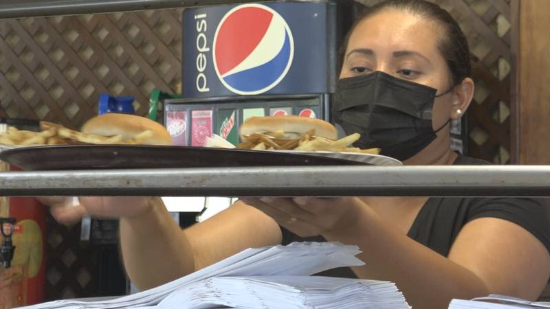 Bland says business has been steady during the pandemic with their drive-in eats.