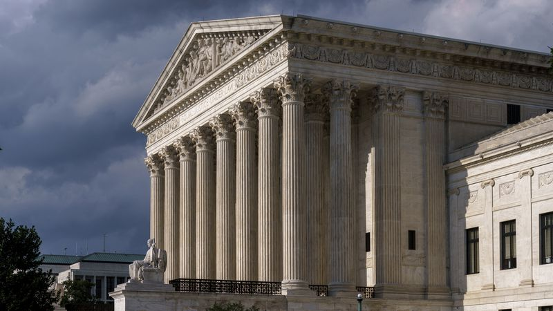 FILE - In this June 8, 2021 photo, the Supreme Court is seen in Washington.