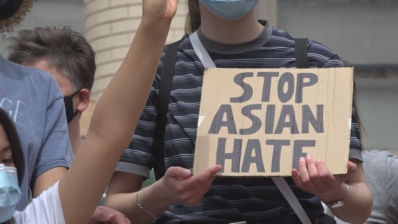 Stop Asian Hate march in Staunton