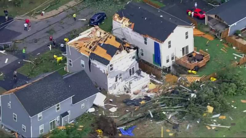 Ida brought flooding and tornadoes to the Northeast Wednesday