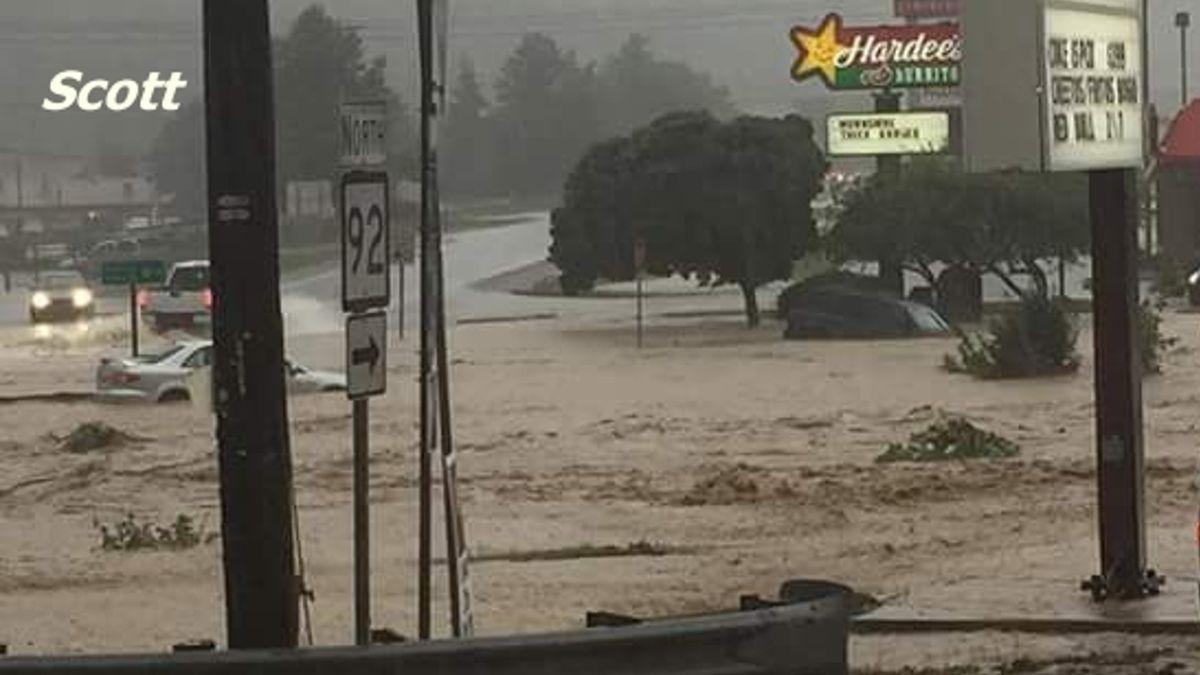 Flooding in White Sulphur Springs, WVa. (Photo from Scott)