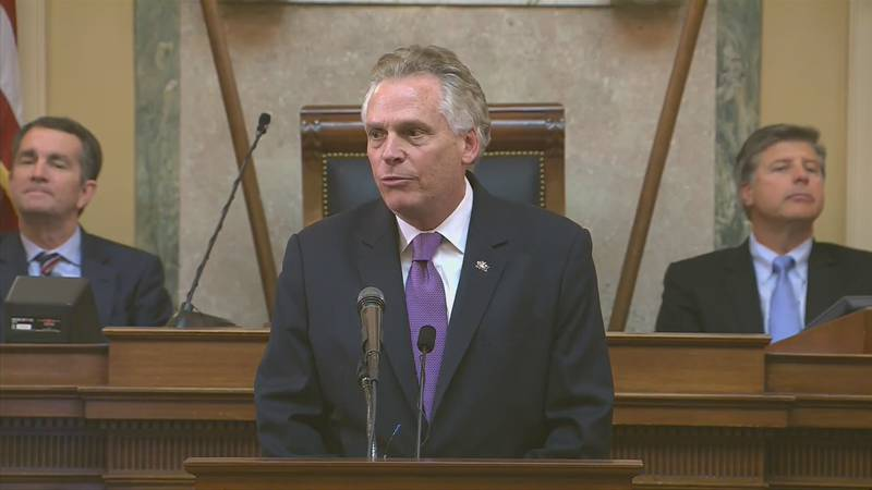 Former Virginia Governor Terry McAuliffe, the front runner in the Governor's race.