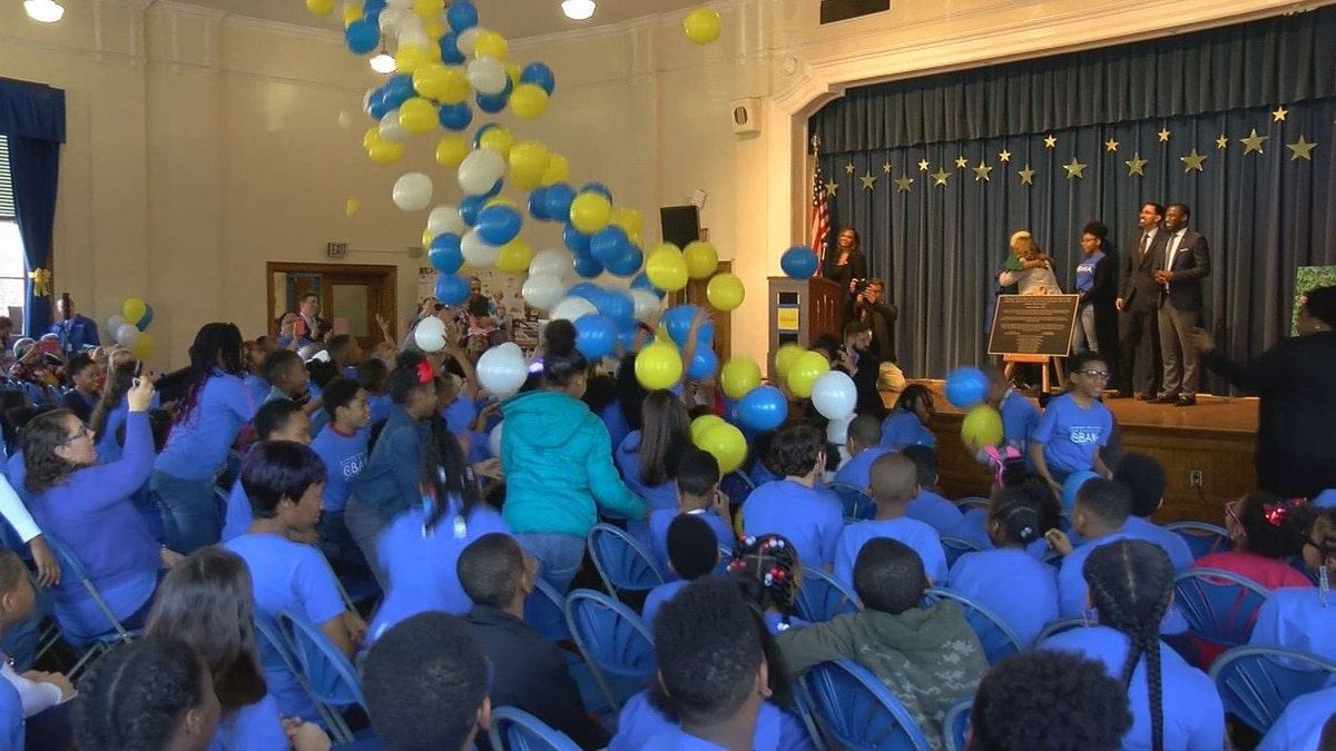 During Friday's dedication ceremony, the students appeared pretty happy with the...