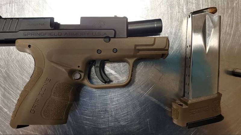 This loaded handgun was detected by TSA officers in a passenger's carry-on bag at...