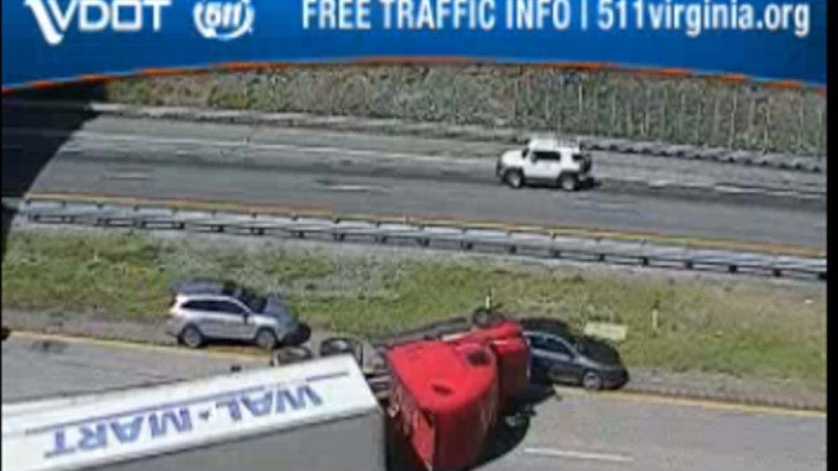 Traffic camera image from I-64 mile marker 99 in Augusta County | Courtesy: VDOT