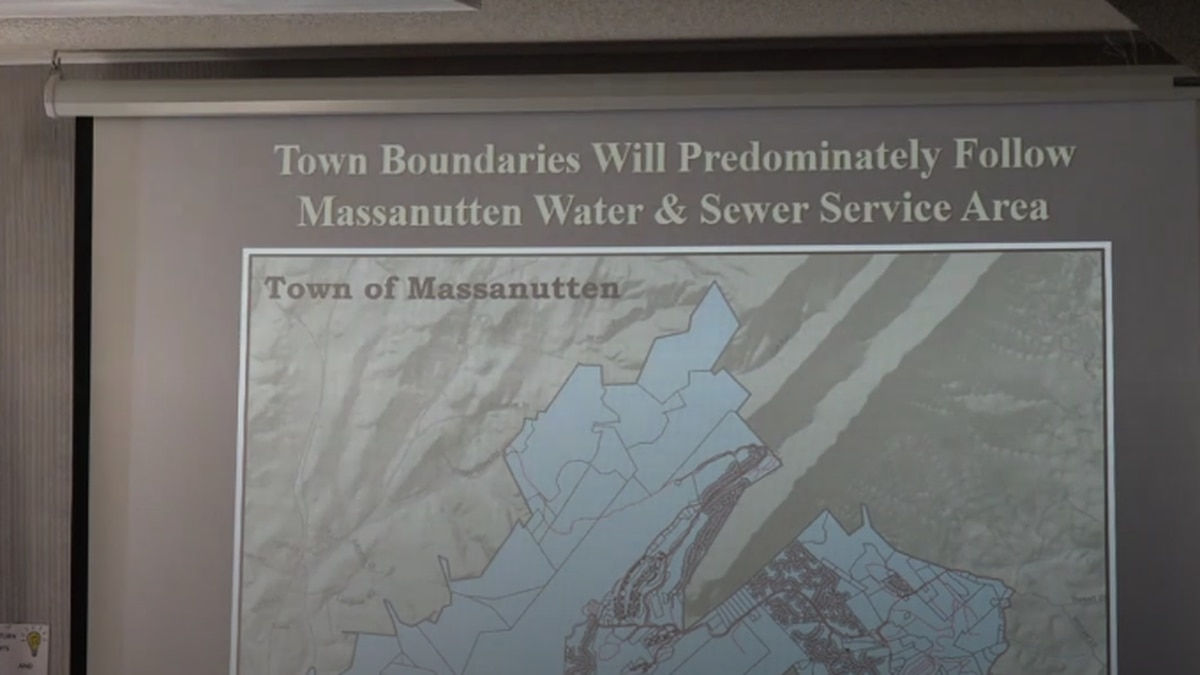 Gene Hauze said the town boundaries would follow the sewer service plan.   Credit: WHSV