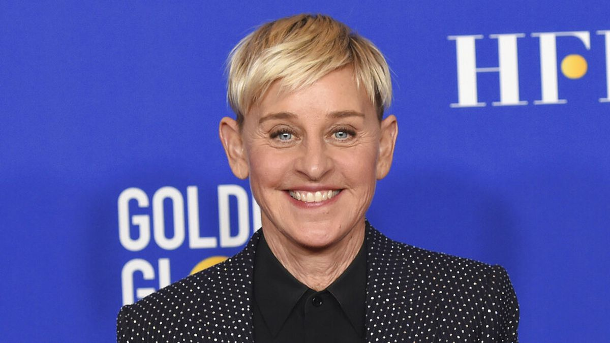 Ellen DeGeneres poses in the press room at the 77th annual Golden Globe Awards on Jan. 5, 2020, in Beverly Hills, Calif.  Ellen DeGeneres used her opening monologue of the new season of her daytime talk show to address allegations of a toxic work environment, apologizing for things 'that never should have happened.'