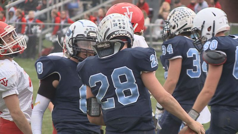 Pendleton County wins big over Tygarts Valley behind Dalton Dunkle's six touchdowns.