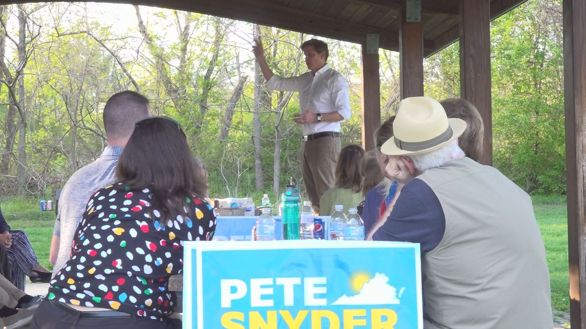 Snyder recruited delegates during a recent visit to Roanoke County.