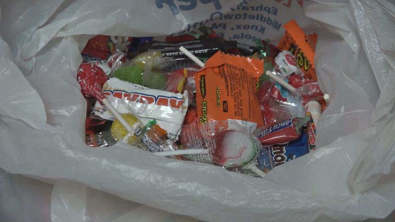 Smiles for Life candy give back.