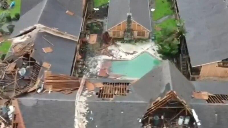 Hurricane Laura slammed the Lake Charles area as a strong Category 4 hurricane.