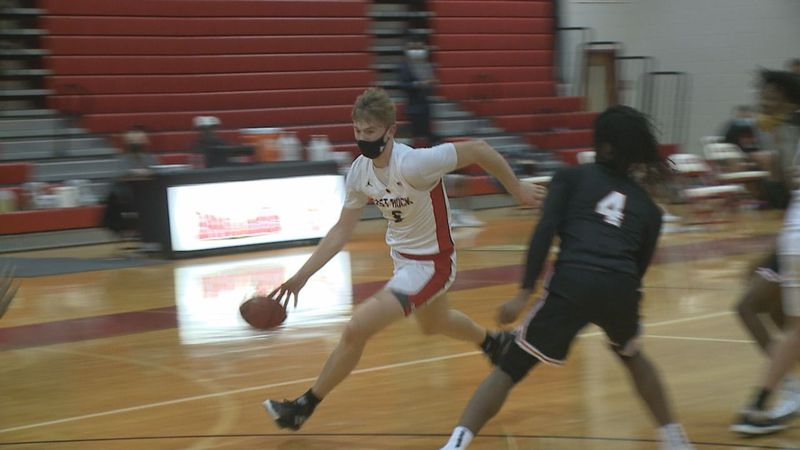 Tyler Nickel recorded a triple-double to lead the East Rockingham boys basketball team to a...