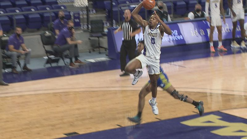 The James Madison men's basketball team opened the 2020-2021 season with an 89-55 win over...