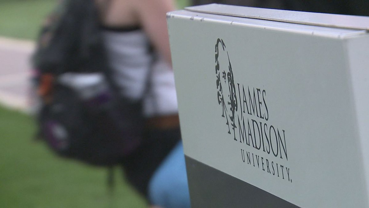 James Madison University sign