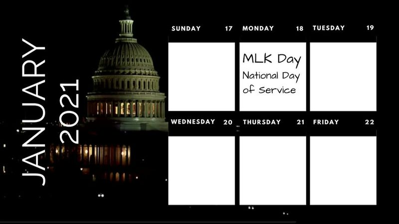 Busy week: MLK, COVID memorial, inauguration
