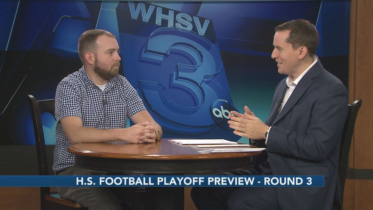 WHSV Sports Director TJ Eck is joined by Cody Elliott of the Daily News-Record to preview the third round of the high school football playoffs.