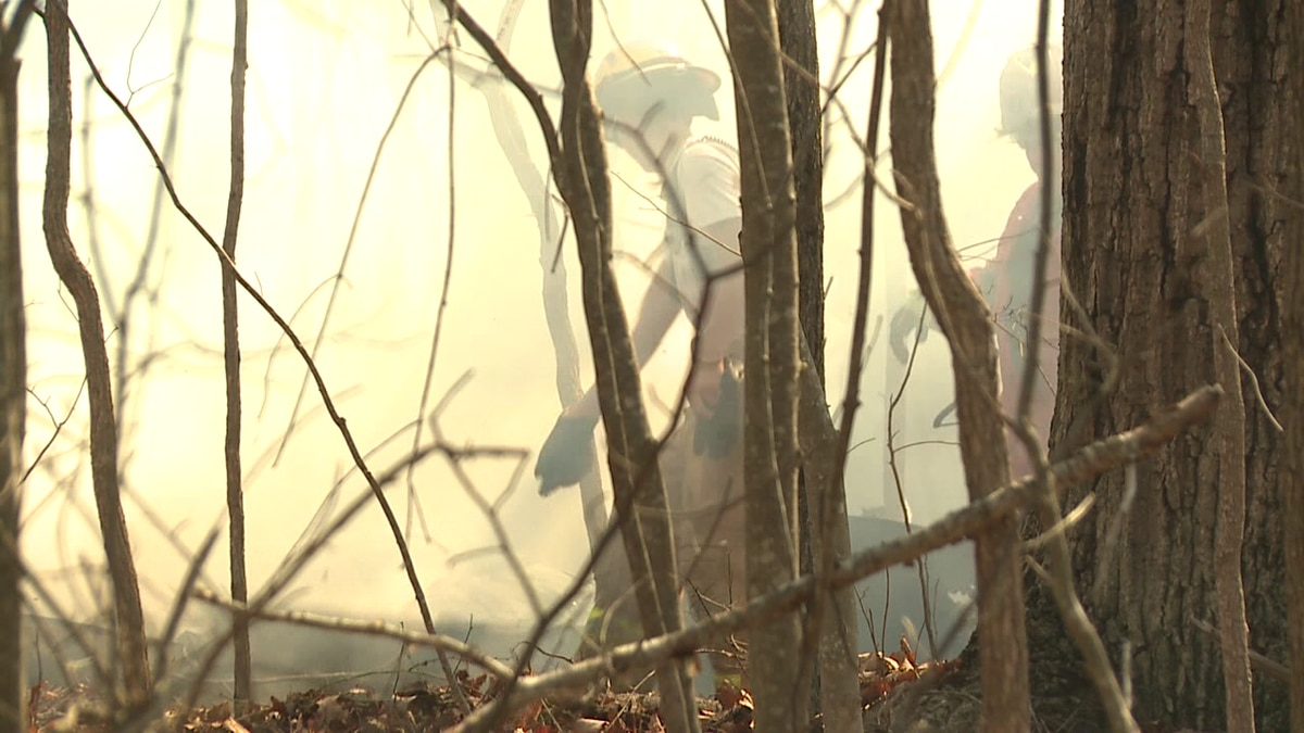 WHSV file image of firefighter response during the Rocky Mount Fire