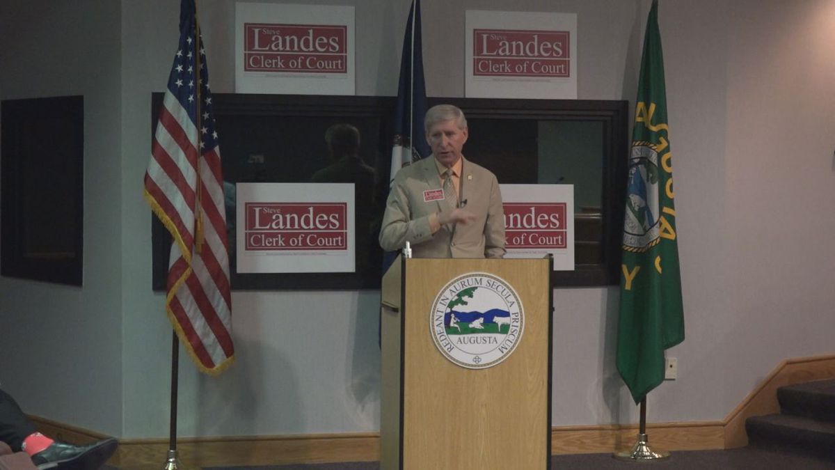 Landes announced nine different goals he hopes to accomplish if elected to be Augusta County clerk of court. | Credit: WHSV