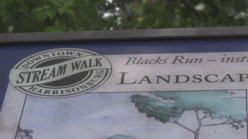 Blacks Run stream in Harrisonburg, VA