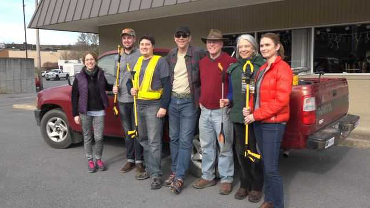 These group of hikers met up Sunday morning to enjoy the outdoors and help clean up parts of...