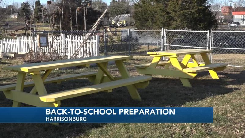 Harrisonburg City Schools prep classrooms and buildings before some return on March 22