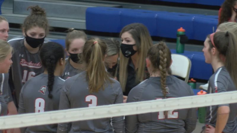 Riverheads volleyball in the class 1 state finals.