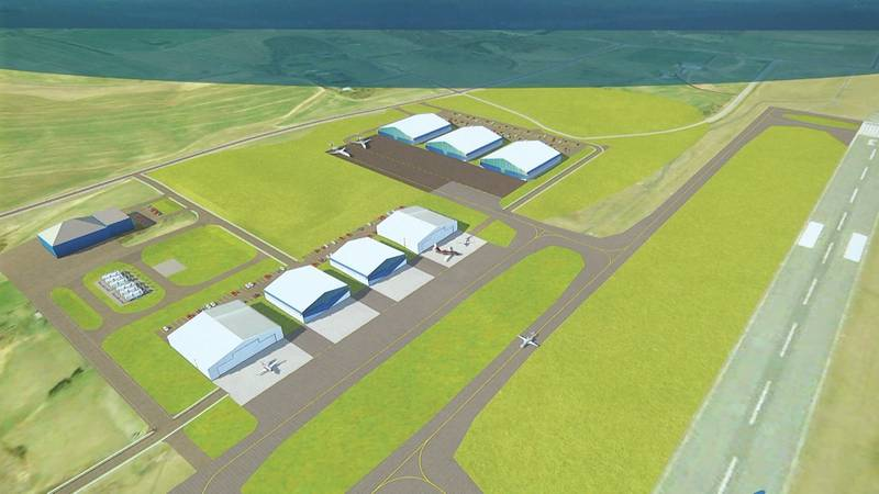 A working design of the master plan for the Shenandoah Valley Aviation Technology Park in...