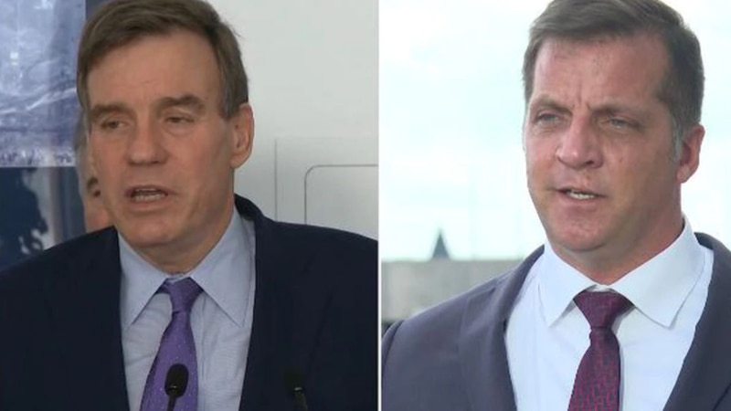U.S. Sen. Mark Warner of Virginia and his Republican opponent Daniel Gade have sparred over the...