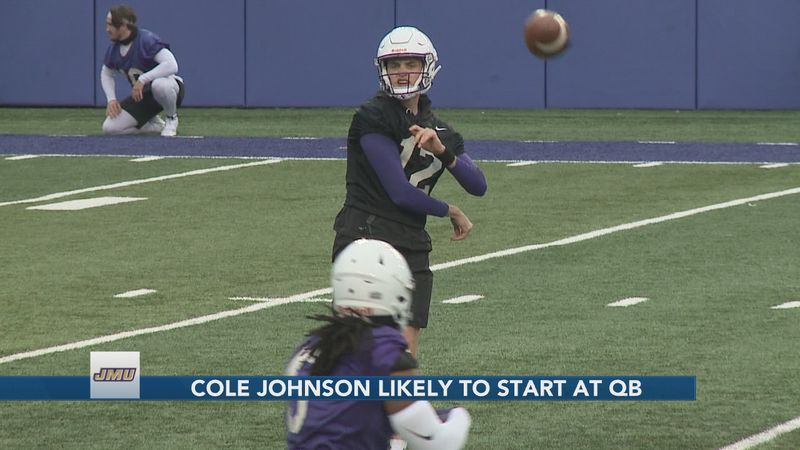 "Cole Johnson is the ""leader in the clubhouse"" to be the Dukes' opening week starting QB."