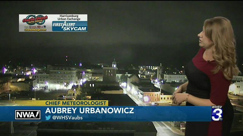 Watch Aubrey Urbanowicz give the overnight forecast