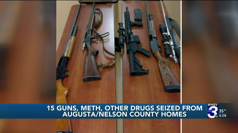 VSP: Augusta, Nelson County residents facing gun, drug charges