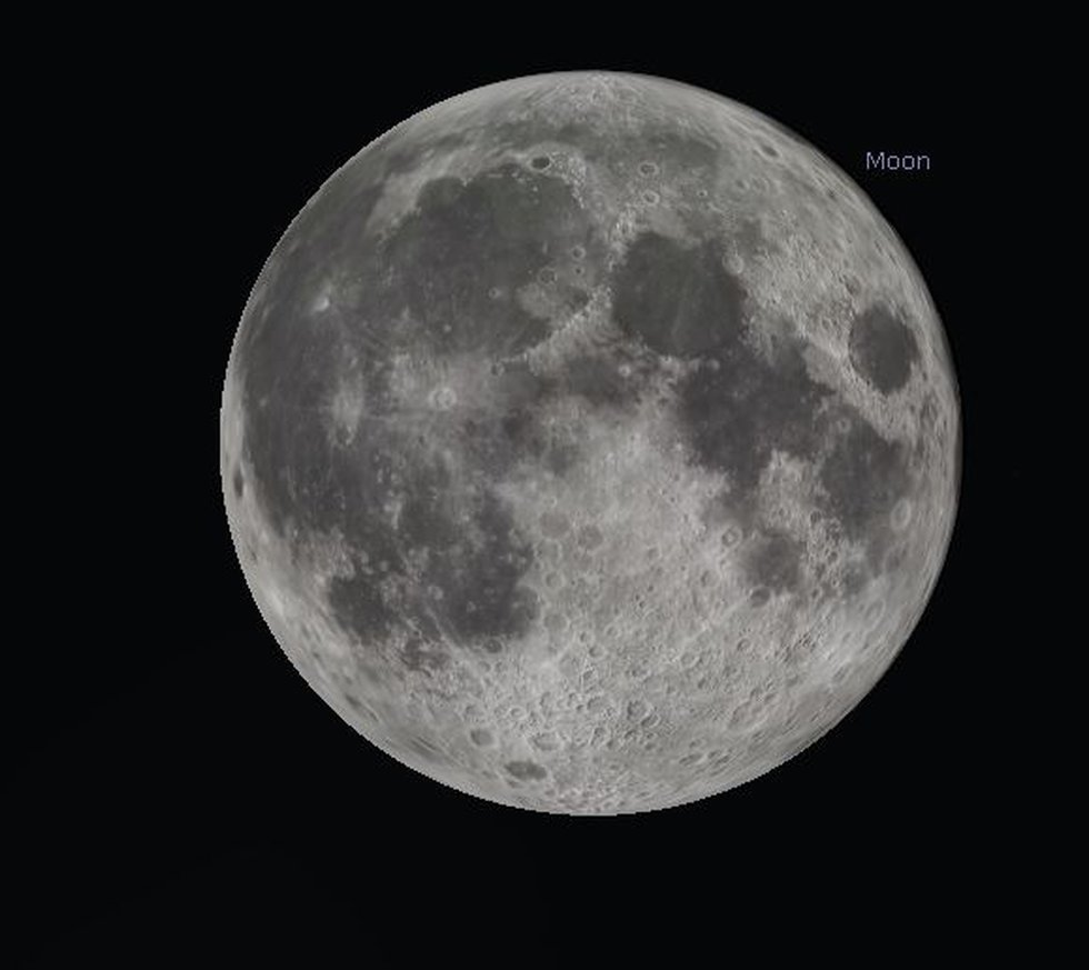 The moon will be full Thursday night and is known this month as the Strawberry Moon