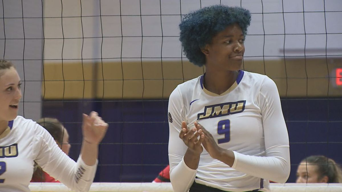 M'Kaela White is the first James Madison University volleyball player to sign a professional contract.
