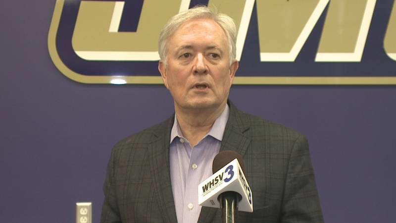 James Madison Director of Athletics Jeff Bourne met with members of the local media Thursday...