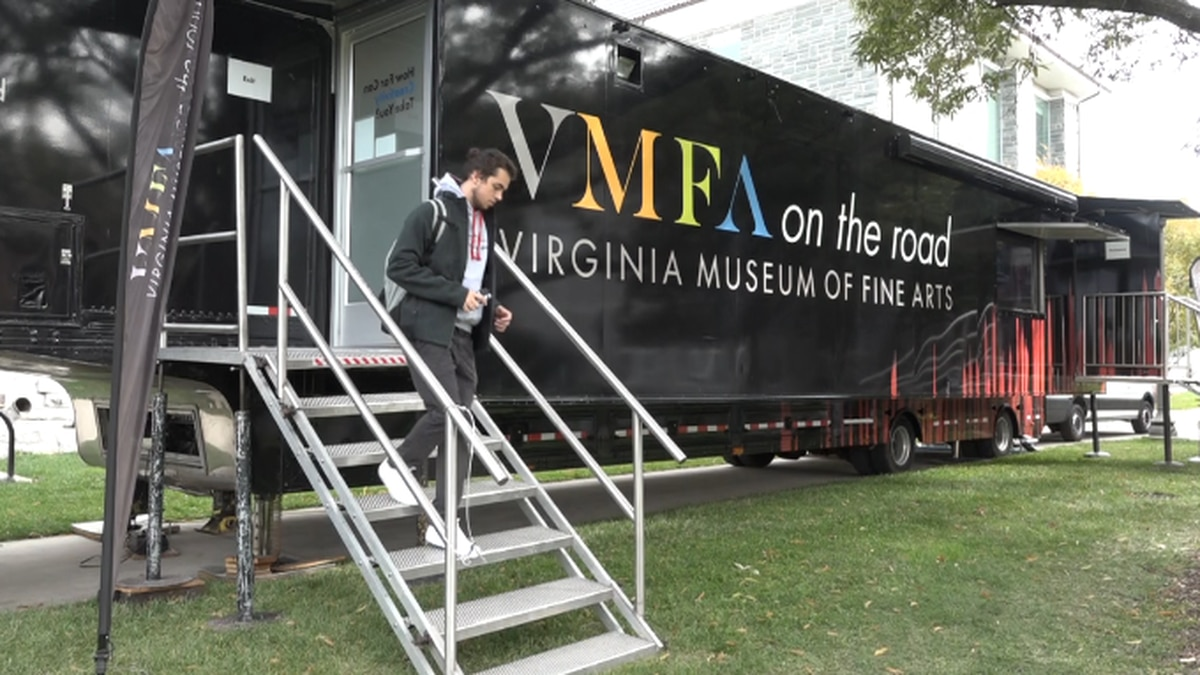 The Artmobile travels around the Commonwealth to give Virginians everywhere a taste of the artwork on display at the Virginia Museum of Fine Arts in Richmond.