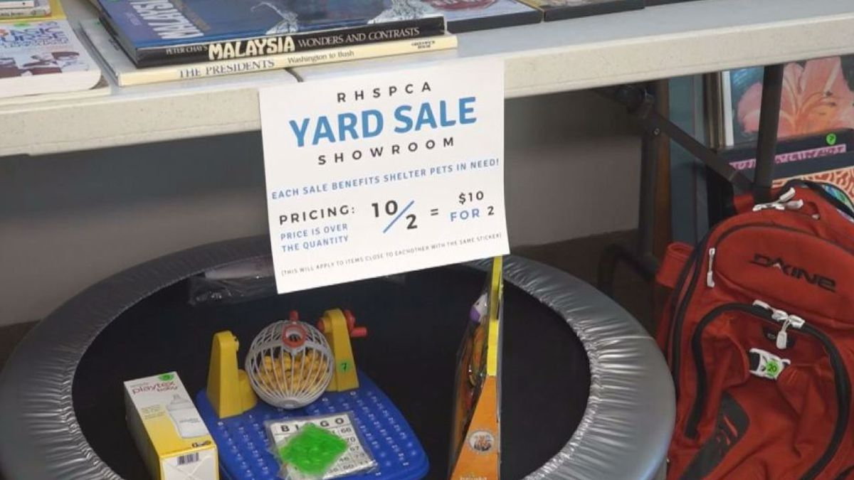 RHSPCA holds virtual yard sale